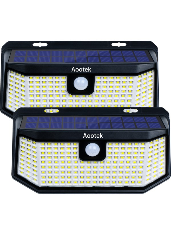 Aootek 238 Led Solar outdoor motion sensor lights ...
